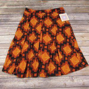 LuLaRoe Medium Madison Skirt Geometric Orange
